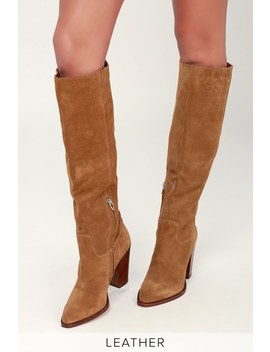 Kylar Brown Suede Leather Knee High Boots by Dolce Vita