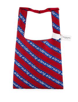 Americana Knit Jacquard Shopper Tote Bag by Alexander Wang