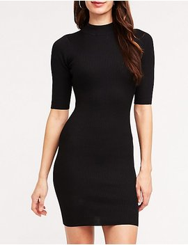Ribbed Mock Neck Sweater Dress by Charlotte Russe