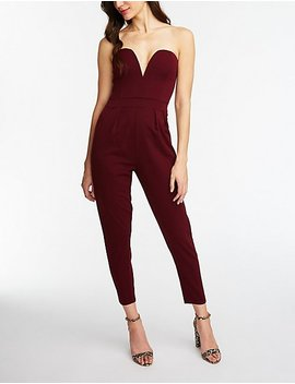 v-wired-jumpsuit by charlotte-russe