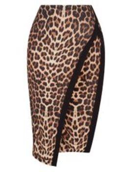 Leopard Print Extreme Split Midi Skirt by Prettylittlething