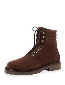 Men's Heath Waterproof Suede Lace Up Boots by Aquatalia