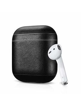 Leather Case Apple Air Pods, Classic Series   Air Vinyl Design, Protective Case Cover (Black) by Air Vinyl Design