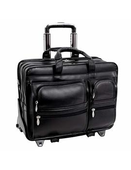"Mc Klein Usa Clinton Leather Wheeled 17"" Laptop Case by Mc Klein Usa"