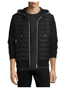 Maglia Quilted Cardigan Hoodie by Moncler