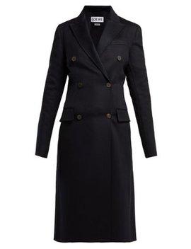 Double Breasted Wool Blend Coat by Loewe