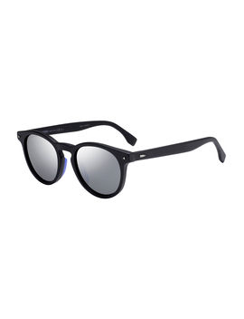 Men's Round Mirrored Acetate Sunglasses by Fendi