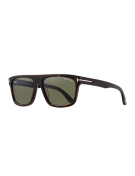 Men's Thick Square Acetate Sunglasses by Tom Ford
