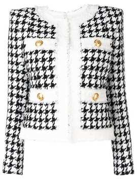 Houndstooth Tweed Jacket by Balmain