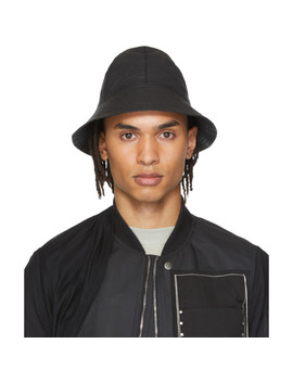 Black Giligan Hat by Rick Owens