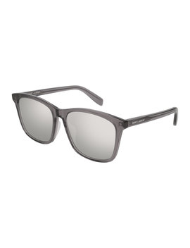Universal Fit Slim Mirrored Sunglasses by Saint Laurent