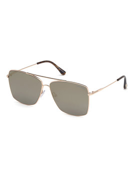 Men's Magnus Rose Golden Metal Sunglasses by Tom Ford