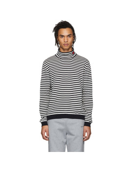 White & Black Maglia Turtleneck by Moncler