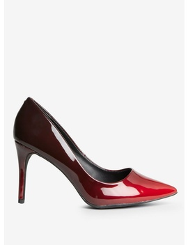 Red Pu 'Eden' Court Shoes by Dorothy Perkins