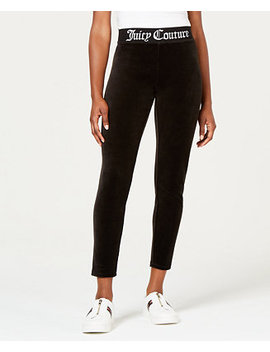 Jacquard Rib Stretch Velour Leggings by Juicy Couture