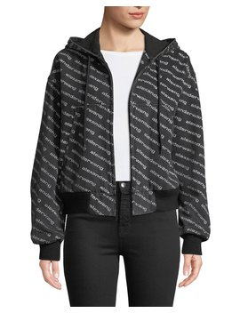 Logo Print Hooded Bomber Jacket by T By Alexander Wang