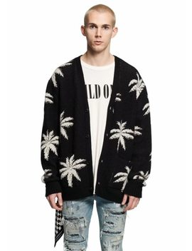 Us Street Brand Coconut Tree Embroidery Women Men Sweaters Cardigan Long Style Hiphop Men Sweater Amr Xxl by Xieruis