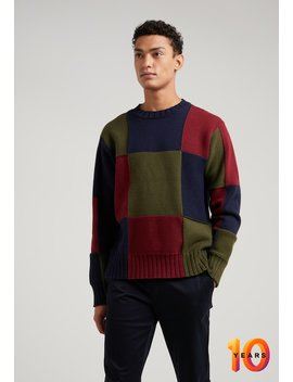 Colorblock    Trui by J.Crew