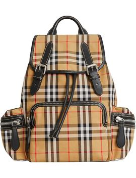 Medium Rucksack Check Cotton Backpack by Burberry