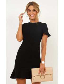 Authority Dress In Black by Showpo Fashion