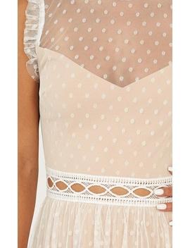 Keep To The Path Mini Dress In White by Showpo Fashion