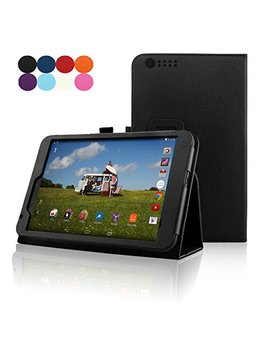 Hudl 2 Tablet Case, A Cdream Premium Pu Folio Leather Tablet Case For Hudl 2, Black by Fskying