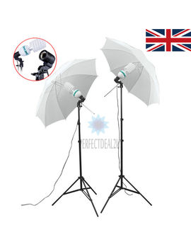 New 2x135 W Photo Studio Umbrella Light Stand Bulb Continuous Lighting Lamp Kit by Ebay Seller