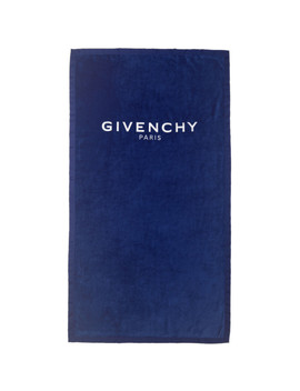 Blue Logo Towel by Givenchy