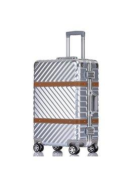 Unitravel Vintage Suitcase Retro Luggage Rolling Spinner Carry On Suitcase With Tsa Lock by Unitravel