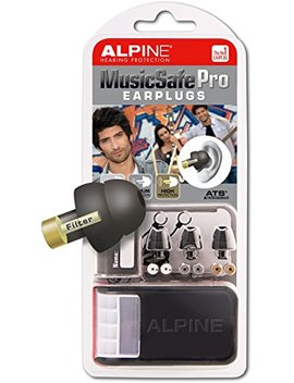 Alpine Music Safe Pro   Filter Ear Plugs For Musicians   Black   3 Sets Of Filters And Storage Box by Alpine Hearing Protection