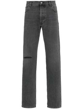 Black Knee Hole Jeans by Balenciaga