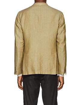 Herringbone Linen Blend Two Button Sportcoat by Pal Zileri