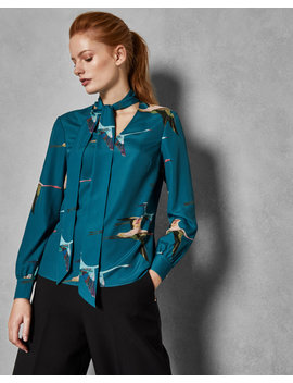 Tie Neck Blouse by Ted Baker