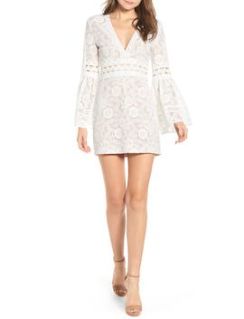 Plunge Neck Lace Minidress by Endless Rose