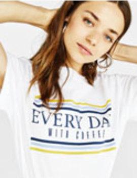 """Marškinėliai """"Every Day"""" by Bershka"""