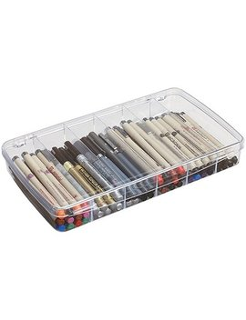 Art Bin Prism Box, 6 Compartment, Clear by Art Bin