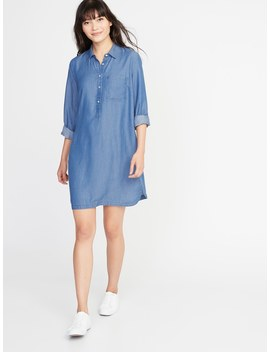 Tencel® Chambray Shirt Dress For Women by Old Navy