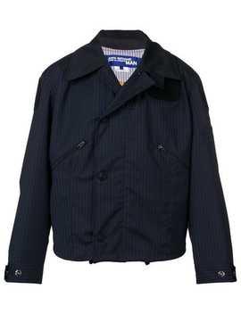 Pinstripe Hooded Jacket by Junya Watanabe Man