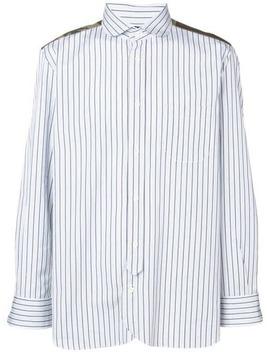 Satin Panelled Stripe Shirt by Junya Watanabe Man