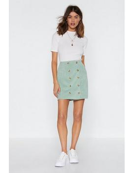 Need Some Closure Button Mini Skirt by Nasty Gal