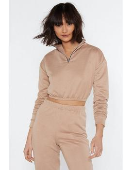 Funnel Neck Cropped Sweat by Nasty Gal