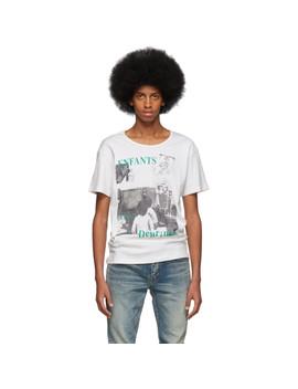 White 'le Télévision' T Shirt by Enfants Riches DÉprimÉs