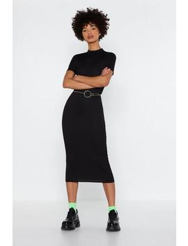 Crew Neck Short Sleeve Midaxi Dress by Nasty Gal