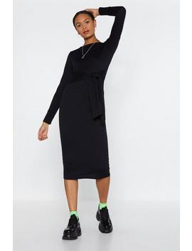 Time To Waist Midi Dress by Nasty Gal