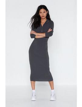 You'll Pull Through Zip Maxi Dress by Nasty Gal