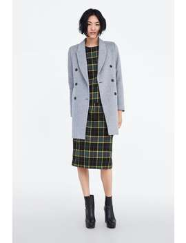 Soft  Feel Striped Coat Coats Coats Woman New Collection by Zara