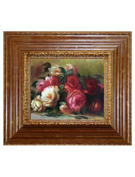 Tori Home Discarded Roses By Pierre Auguste Renoir Framed Painting by Tori Home