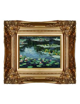 Tori Home 'water Lilies' By Claude Monet Framed Painting Print by Tori Home