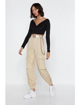 Let It Cargo High Waisted Pants by Nasty Gal