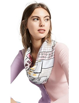 Cityscape Silk Square Scarf by Kate Spade New York
